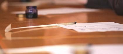 Kaligrafie mit dem Federkiel